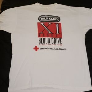 Vintage KLOS Blood Drive Graphic TShirt